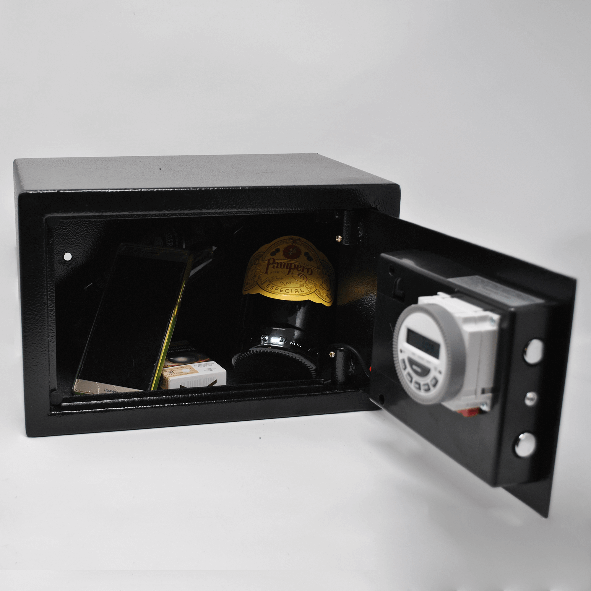 medium time lock safe with items